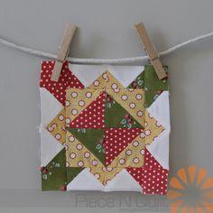 Piece N Quilt: Splendid Sampler - Focal Point Quilt Block by Natalia Bonner