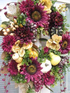 Fall, burgundy sunflowers