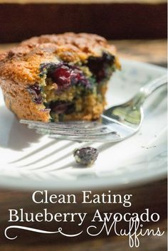 I just love muffins. Check out these clean eating blueberry avocado muffins as a healthy breakfast or snack option.