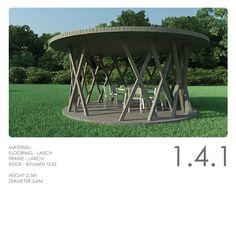 Modern garden pavilion by LUMBRIN.com