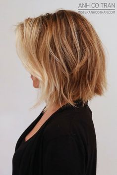 choppy blonde bob hair style
