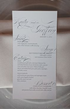 #menu #wedding #party #details #papergoods #dayofstationery