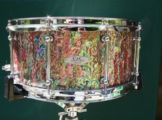 Abalone wrap by C&C Custom Drums