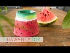 DaWanda DIY: Aus einem Lampenschirm wird ein süßes Früchtchen im hippen Melonen-Look! - YouTube