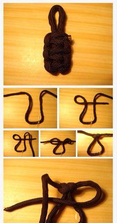 Cobra knot zipper pull Instructables.com