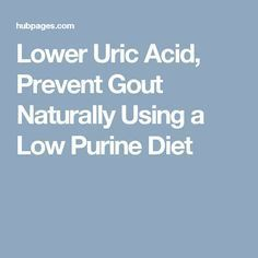 Lower Uric Acid Prevent Gout Naturally Using a Low Purine Diet