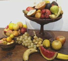 "I've been dealing in antique stone fruit for many years, and often customers new to collecting stone fruit have questions, such as ""how ol. Colonial Home Decor, Colonial Decorating, Fruit Love, Collections Of Objects, Beautiful Fruits, Stone Fruit, Fruits And Vegetables, Veggies, Serving Bowls"