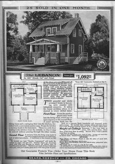 Sears bungalows for sale 1921 catalog house plans house for 1925 bungalow floor plan