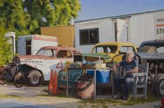 "Saatchi Online Artist: Doug Reina; Oil, Painting """"Racing with Time"""""