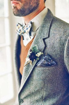 Stilysh Groom Attire For Winter Weddings ❤ See more: http://www.weddingforward.com/groom-attire/ #weddings