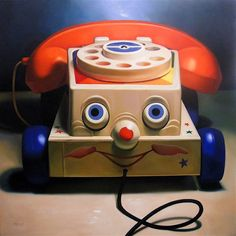 """Toys of Yesteryear in Realistic Paintings"""