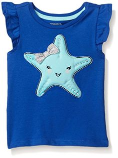Gymboree Girls Purple Starfish Graphic Tee Dazzling Blue 1218 Months * Check out this great product. (This is an affiliate link) #BabyGirlTops