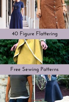 40 Figure Flattering Free Sewing Patterns | Find your next go-to sewing project in our list of figure flattering favorites!