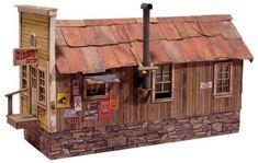 Randsburg Barbershop paper 3D model; free download