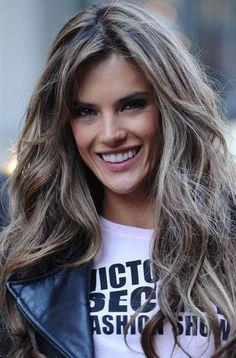 Alessandra Ambrosio's Long Layered Haircut