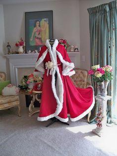 Angel Wings Bridal cape, wedding cloak, Frock Coat Claret Red / Ivory  Satin & fur trim 52 inch Handmade in USA