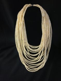 Gatsby 22 strand pearl necklace