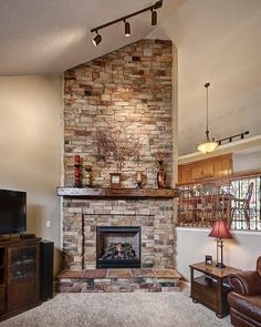 19 best stone fireplace ideas images on pinterest fireplace ideas rh pinterest com Stacked Stone Fireplace Ideas Stacked Stone Fireplace Ideas