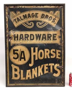Lot: Trade Sign, Lot Number: 0123, Starting Bid: $150, Auctioneer: Copake Auction Inc., Auction: 36th Annual New Years Day Auction, Date: January 1st, 2016 CST