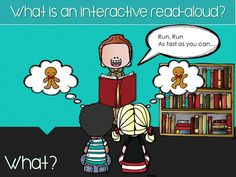 An interactive read aloud is a systematic method of reading a book aloud.  The teacher is doing the word decoding work and the students are asked to do the thinking work.  Through careful planning,  teachers can scaffold the student's understanding of the book being read.  The teacher also models strategies for comprehension as well as teaches vocabulary.
