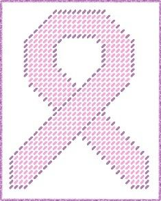 This is a plastic canvas pattern of a Breast Cancer Ribbon that I made. Size is about 30 stitches by 39 stitches which is about 4-1/4 inches by 5-1/2 inches. The pattern will be emailed to you when you win the auction, so please send me your email address when you win.