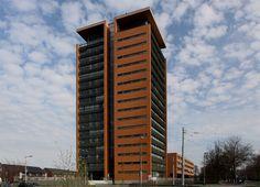 Een referentiepand, welke is gebouwd in dezelfde bouwstijl. Het betreft een ontwerp van Amvest en het project 'Wonen aan de Maas' is hierop geïnspireerd.