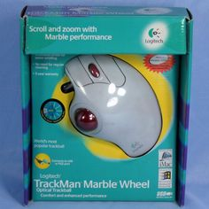 Logitech TrackMan Marble Wheel Optical Trackball Mouse T-BB13 USB Works Great…