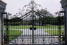 Front entrance - electric gates