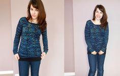 TFA Tuesday - Kayrine's Aurora Looking Back (Back buttons closure) — Tanis Fiber Arts ~ links to the Ravelry pattern for this pretty sweater ($6)