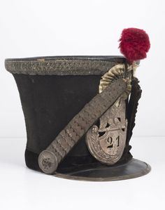 Shako, French Army issue, 21st Light Infantry.