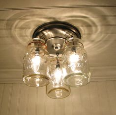 canning jar ceiling light