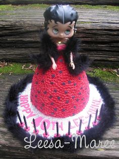 """Two-tier """"Betty Boop"""" Cake for 70th birthday! Description from pinterest.com. I searched for this on bing.com/images"""
