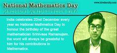 On #NationalMathematicsDay, remembering Shri Srinivasa Ramanujan for his exceptional contribution to the world of Mathematics.