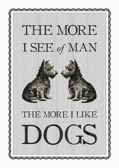 Dog Quote Poster Dog Print Pet Art Poster Art by oflifeandlemons
