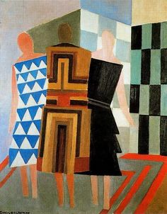 "Sonia Delaunay: ""Vestidos simultáneos"" Las tres mujeres (Simultaneous Dresses. The Three Women) 1.925"