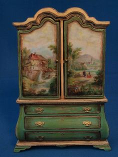 dollhouse armoire by Gale Bantock