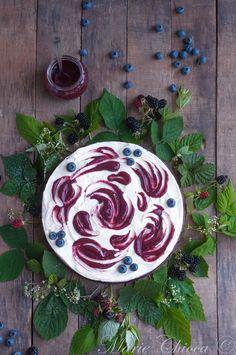 Grand cheesecake végétal aux fruits des bois ( Sans lait, Sans oeufs, Vegan, IG Bas )
