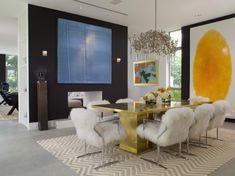 dekorieren esszimmer eklektisch stühle weiß goldener esstisch