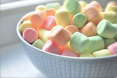 Pastel Mini Marshmallows ~ For Spring and Easter All You Need Is, Rainbow Sherbet, Mini Marshmallows, Chocolate Factory, Pretty Pastel, The Fresh, Sweet Recipes, Sweet Tooth, Food And Drink
