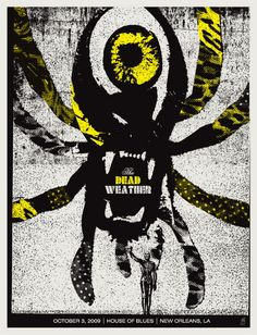 The Dead Weather New Orleans concert poster by Methane Studios - Methane Studios - Gallery