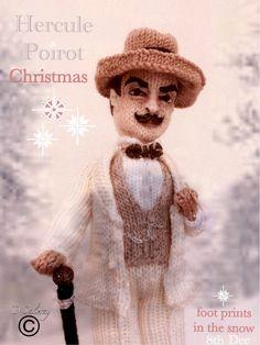 #Poirot #advent #day8 #christmas #knitteddoll