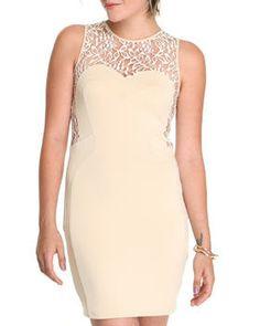 Body Con Dress w/Lace Back by DJP OUTLET @ DrJays.com