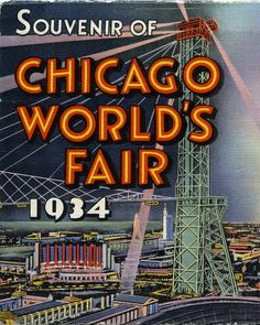 vintage postcard, Souvenir of Chicago World's Fair 1934, photo by paul.malon, via Flickr