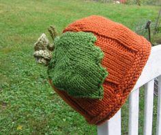 Pumpkin Beanie Knit Hat