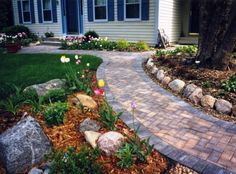 images of driveway landscaping | residential_landscapedesign_sidewalk2