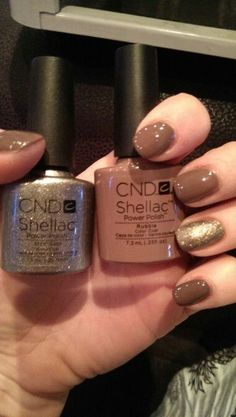 shellac rubble with CND shellac steel gaze feature, perfect combination Shellac Nail Colors, Shellac Nail Designs, Shellac Manicure, Manicure And Pedicure, Cnd Shellac Layering, Vernis Semi Permanent, Nagel Gel, Nails Inspiration, Beauty Nails