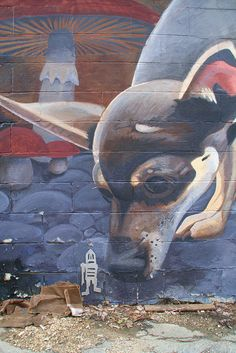 Yellow Springs, Ohio: Dog & mushroom mural #2 by Michael.Loadenthal, via Flickr