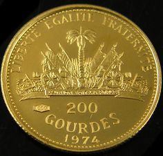1974 HOLY YEAR 200 GOULDES GOLD COIN   CO 704 France empire coins, french colonial coins