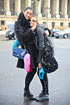 awww! that's really cute. #MingXi & #CaraDelevingne cuddling it out in Paris.