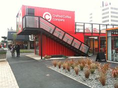 Christchurch post-earthquake 'Pop-Up' Container Mall by jjprojects, via Flickr
